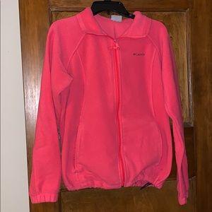 Hot Pink Columbia Zip Up Sweatshirt